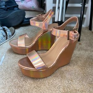 Holographic wedges size 6